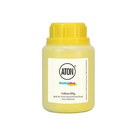 Refil de Toner Lexmark X544   C544   C540   X543 Yellow 80g Aton