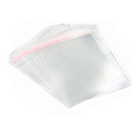 Embalagem Saco Plástico 25x35cm com Aba Adesivada de 3cm 100 Unidades