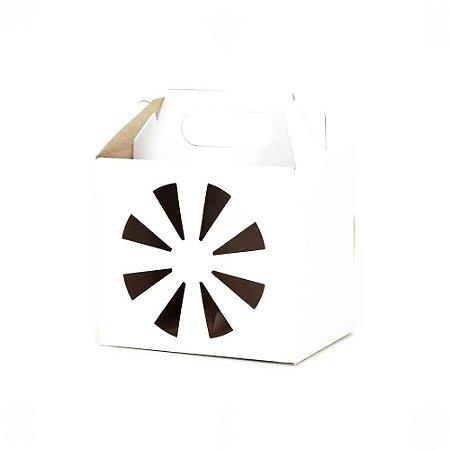 Caixa Neutra para Armazenar Canecas de Sublimação Branca - 10 Unidades