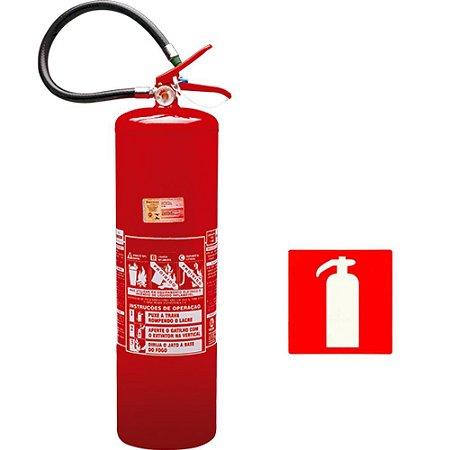 Extintor de Incêndio Agua - Classe A - 10 Litros + 1 Placa Sinalizadora Grátis