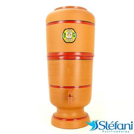 Filtro de Água de Barro Purificador São João com Vela 6 Litros
