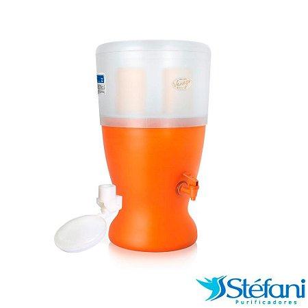 Filtro de Água de Barro Veneza São João com 2 Velas e Boia 8 Litros