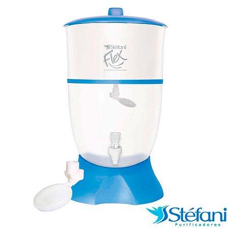 Filtro de Água Purificador Doméstico Stéfani Flex com Vela e Boia Azul 6 Litros