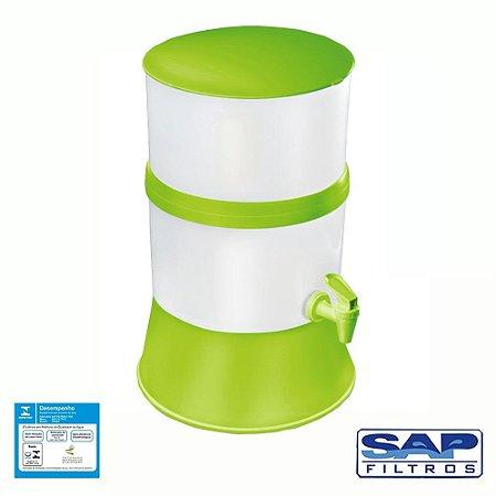 Filtro de Água Compacto com Vela Cerâmica Verde Sap Filtros