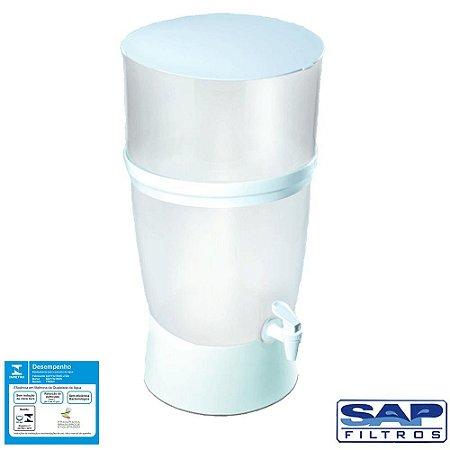 Filtro de Água de Plástico Seleto Branco 10 Litros Sap Filtros