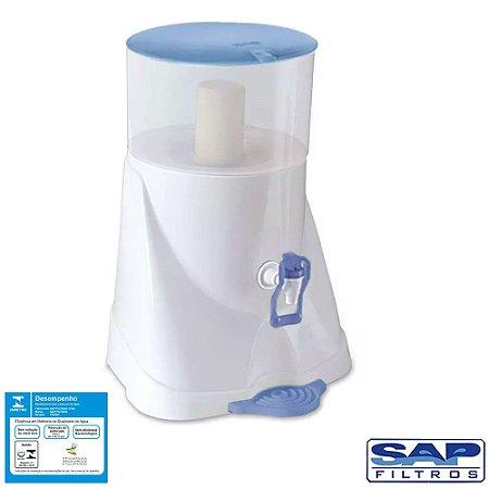 Filtro de Água Acqua Fresh com Cuba Cerâmica Azul 5,7 Litros Sap Filtros