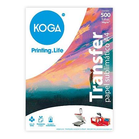Papel Transfer A4 para Sublimação 90g Resinado 500 Folhas Koga