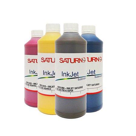 Kit 4 Tintas Saturno para Sublimação L455 1 Litro CMYK