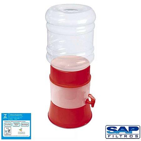 Kit Filtro de Água Gplus Vermelho + Vela Cerâmica Tradicional Sap Filtros