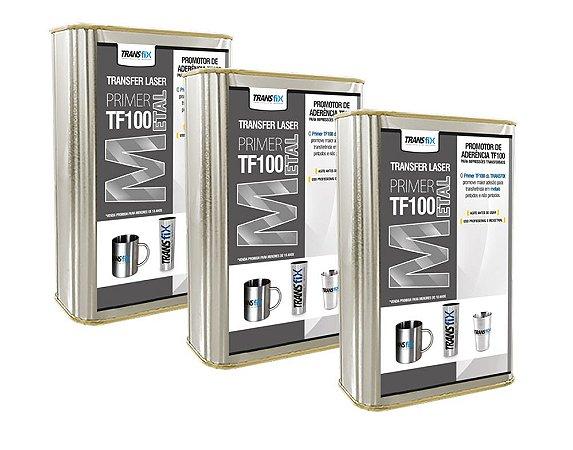 KIT 3 PRIMER TRANSFIX PARA METAL TF100 900ML