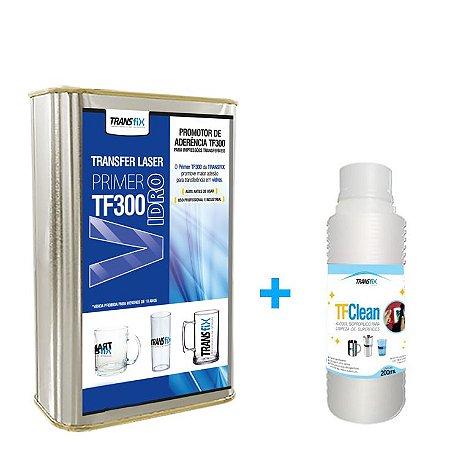 KIT PRIMER + TFCLEAN TRANSFIX PARA VIDRO TF300 900ML