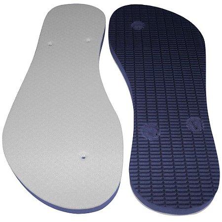 Chinelo para Sublimação Masculino Azul Marinho nº35/36