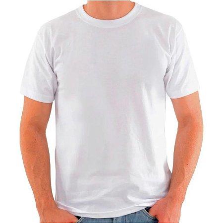 Camiseta Branca de Poliéster para Sublimação Gola Redonda Adulto XXGG