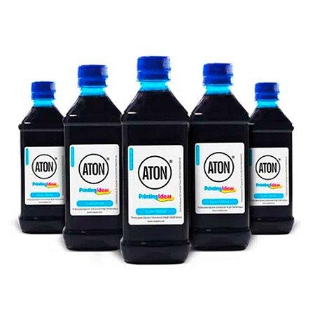 Kit 5 Tintas para Epson Universal High Definition ATON Cyan corante 500ml