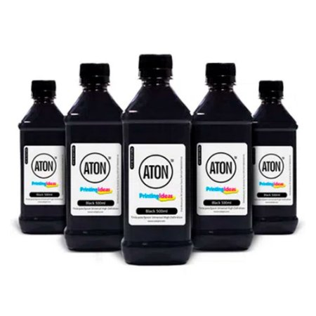 Kit 5 Tintas para Epson Universal High Definition ATON Black corante 500ml
