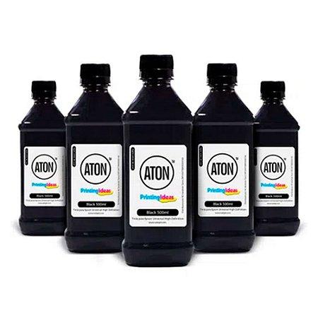 Kit 5 Tintas para Epson Universal High Definition ATON Black corante 500ml