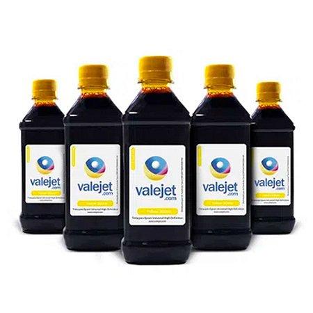Kit 5 Tintas para Epson Universal Yellow Corante 500ml Valejet