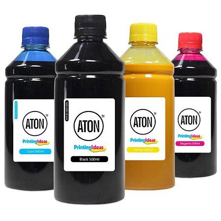 Kit 4 Tintas para Cartucho HP 932XL | 933XL CMYK 500ml Aton Pigmentada