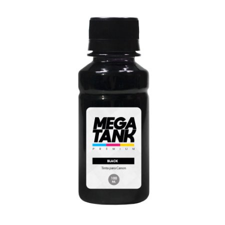 Tinta para Canon Gl 190 Black Pigmentada 100ml Mega Tank