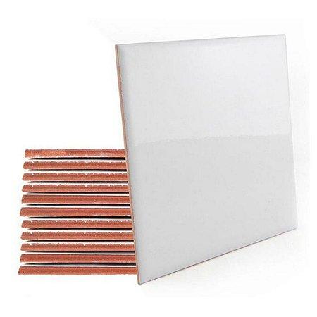 Azulejo 10x10 Branco Resinado para Sublimação