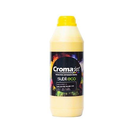 Tinta Subli Eco Yellow 1kg Universal Cromajet