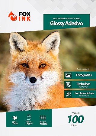 Papel Fotográfico Glossy Adesivo A4 135g Fox Ink 100 Folhas