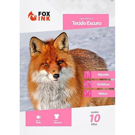 Papel OBM para Tecido Escuro A4 Fox ink 10 Folhas