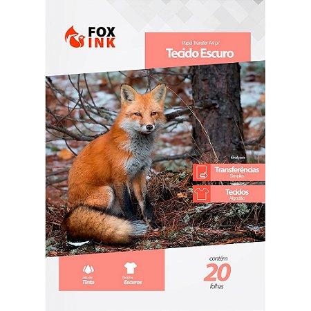 Papel Transfer para Tecido Escuro A4 Fox Ink 20 Folhas