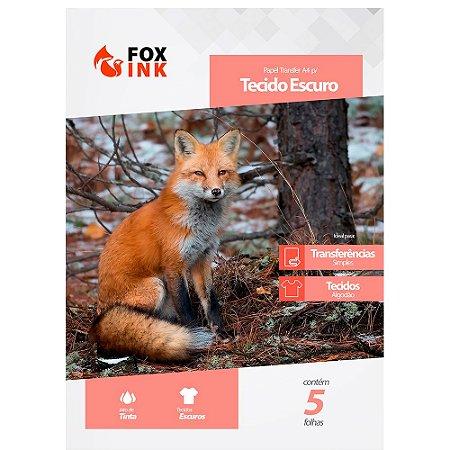Papel Transfer para Tecido Escuro A4 Fox Ink 5 Folhas