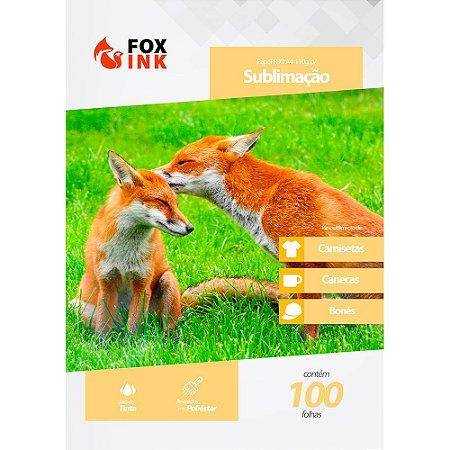 Papel para Sublimação R90 A4 110g Pacote Fox Ink 100 Folhas