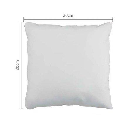 Capa de Almofada Branca 20x20