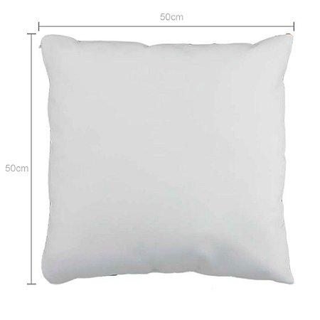 Capa de Almofada Branca 50x50