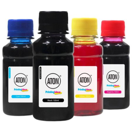 Kit 4 Tintas Epson Bulk Ink L6171 Black Pigmentada Coloridas Corante 100ml Aton