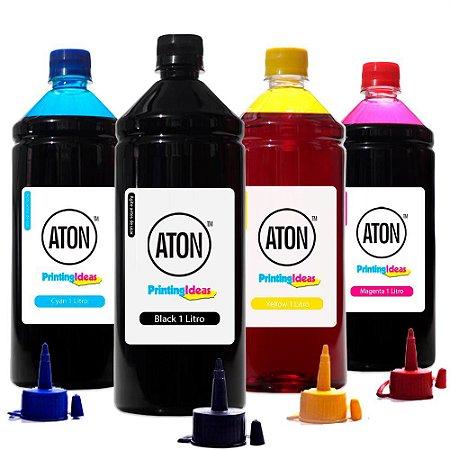 Kit 4 Tintas Epson Bulk Ink L220 CMYK 1 Litro Corante Aton
