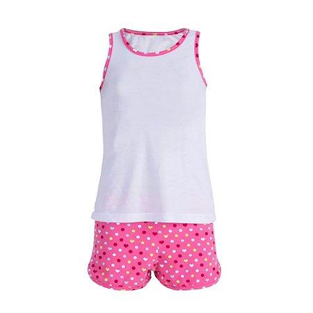 Pijama Feminino Infantil Completo tam 08