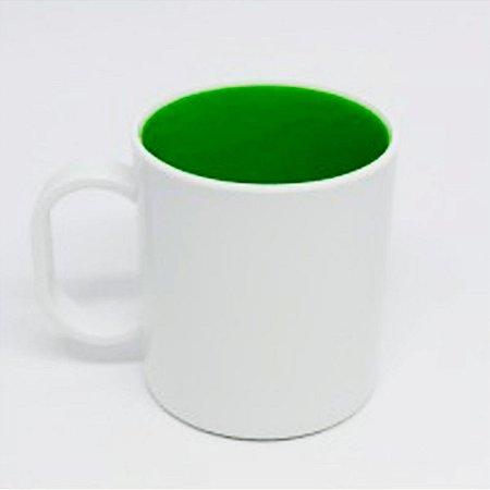 Caneca Verde de Polímero 130g para Sublimação