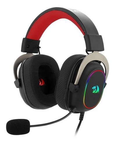 Headset Zeus X Preto RGB - Redragon