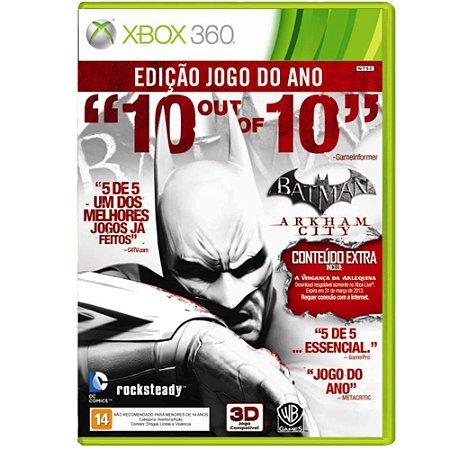 Jogo Batman Arkham City Edição Jogo do Ano - Xbox 360