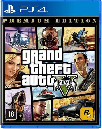 Jogo Grand Theft Auto V ( GTA V ) Premium Edition - PS4