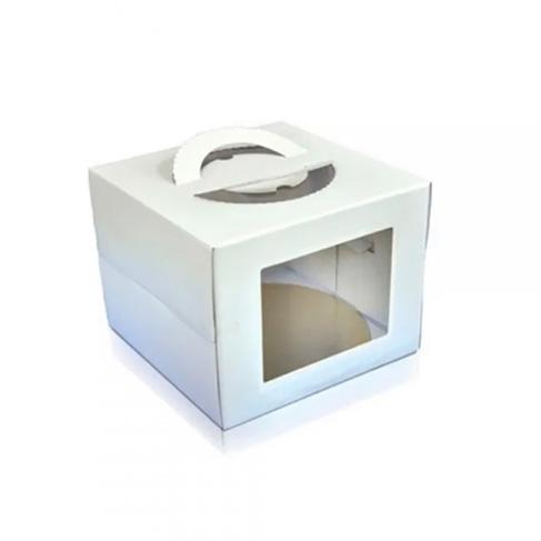 Cake Board Box 32,5x32,5x40cm Branca