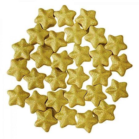 Confeito 607 Estrela 3d Dourada 1un