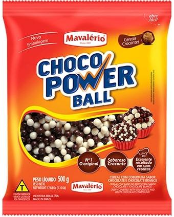 Choco Power Mini Ball 500g Leite/Branco