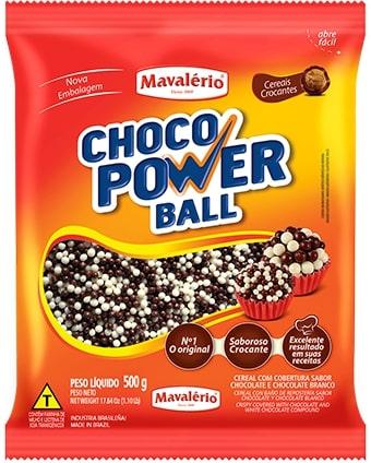 Choco Power Micro Ball 500g Leite/Branco