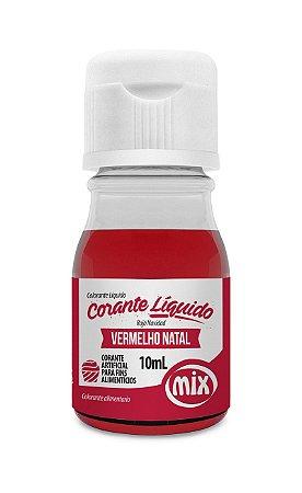 Corante Liquido Mix 10g Vermelho Natal