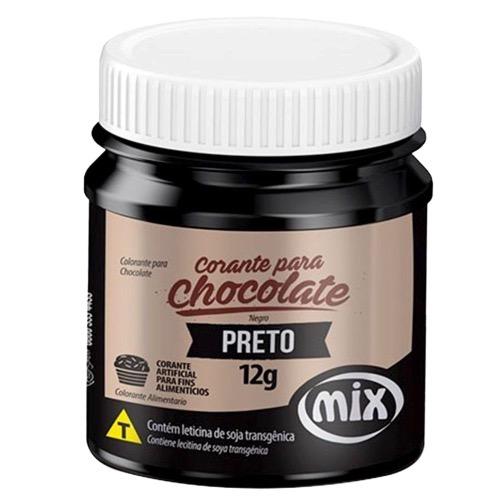 Corante Para Chocolate Mix 12g Preto
