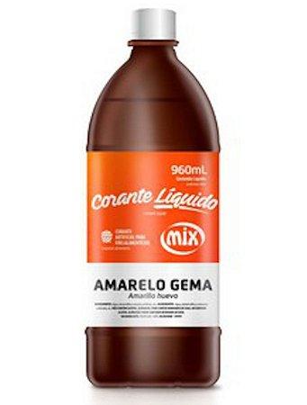 Corante Liquido Mix 960g Amarelo Gema