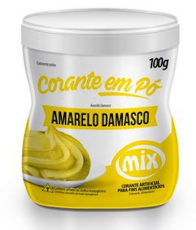 Corante Em Po Mix 100g Amarelo Damasco
