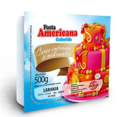 Pasta Americana Arcolor 500g Laranja