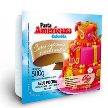 Pasta Americana Arcolor 500g Azul Piscina