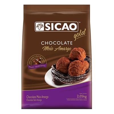 Chocolate Sicao Gold Gotas De Meio Amargo 2,05kg